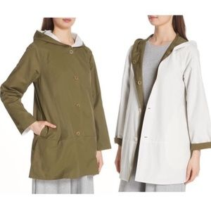 NWT Eileen Fisher Reversible Hooded Jacet